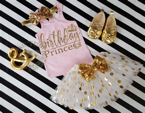 Princess Azkana 2 Gold Dnt glitter birthday princess tutu pink gold 1st 2nd 3rd 4th 5th 6th