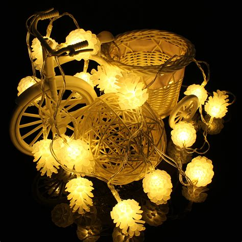 philips pine cone string lights ebluejay 2 2m 20 led pine cone string light l