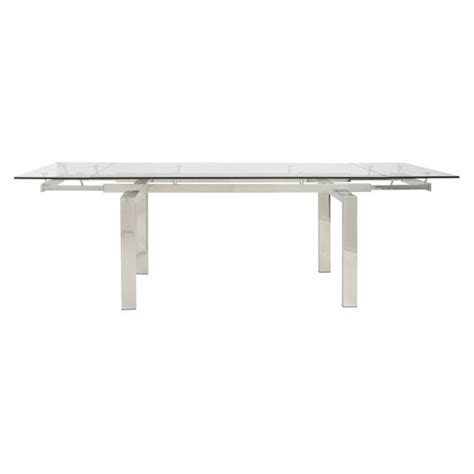 modern furniture torrance torrance polished steel modern extension table eurway