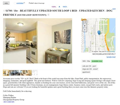 Apartment Ads In Chicagoland Property Continues To Lie In Craigslist