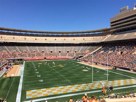 neyland stadium visitors section neyland stadium section n rateyourseats com