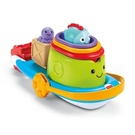 fisher price bath toy boat fisher price stacking bath boat bath toy bfh59 ebay