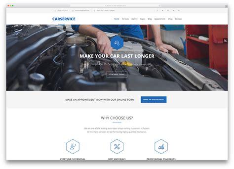 15 Mobile Friendly Car Rental Wordpress Themes 2018 Colorlib Car Service Website Template