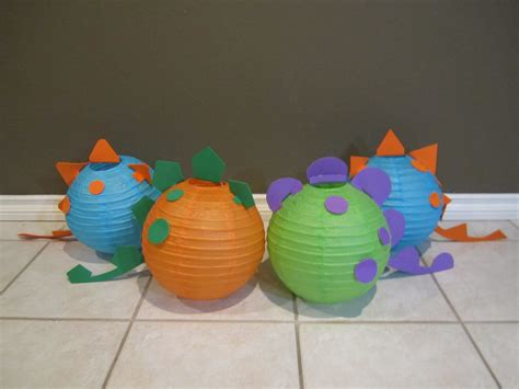 dinosaur paper lantern decoration kit pick your by