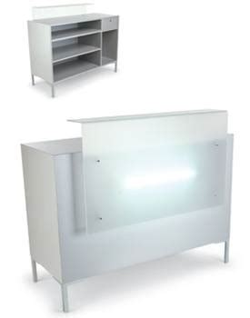 Yuka Reception Desk With White Altuglass Design X Mfg White Reception Desk Salon