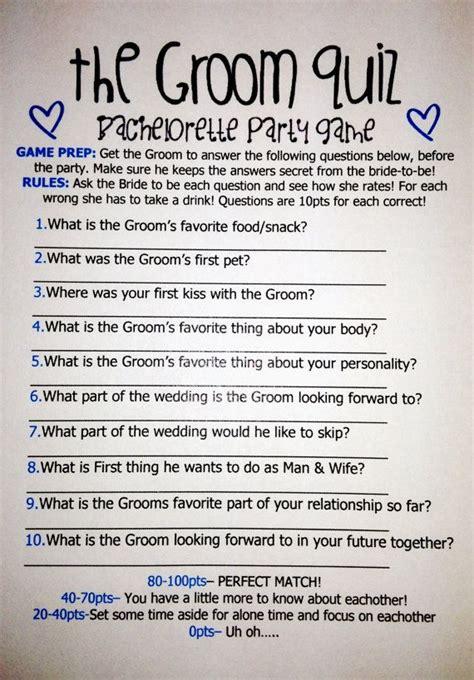 Bridegroom test to marriage