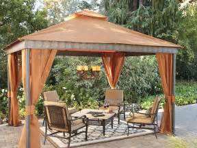 Backyard Patio With Gazebo by Gazebo Cool And Amazing Fabric Gazebo Design Ideas