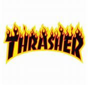 Thrasher Magazine Large Flames Sticker 55 X 1025