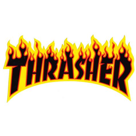 The Thrasher by Thrasher Magazine Large Flames Sticker Large 5 5 X 10 25