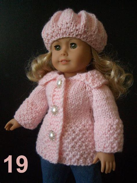 free knitting patterns for dolls clothes to easy knitting pattern ag 18 quot doll set easy knitting