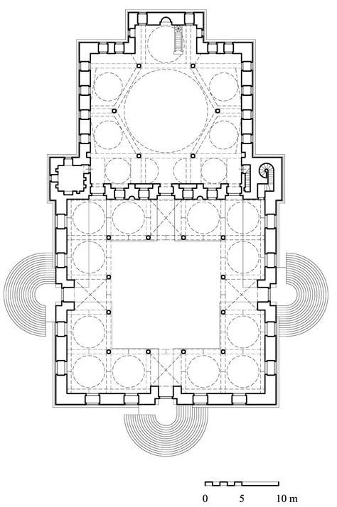 blue mosque floor plan floor plan of malika safiyya mosque archnet floor