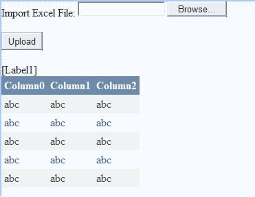 format date bind asp net how to retrieve data from excel sheet in c net how to