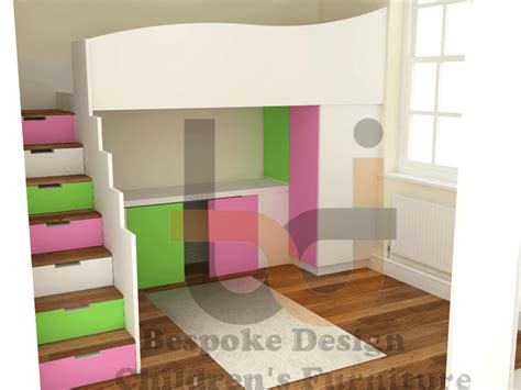 High Sleeper Bed by Stripe High Sleeper Bed With Storage Stairs And