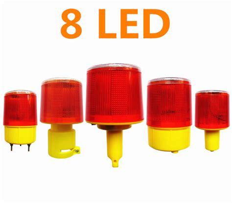 traffic warning lights 8led bright led solar powered traffic warning light