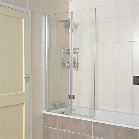 glass bath shower screen lumin8 inward folding bath screen uk bathroom solutions