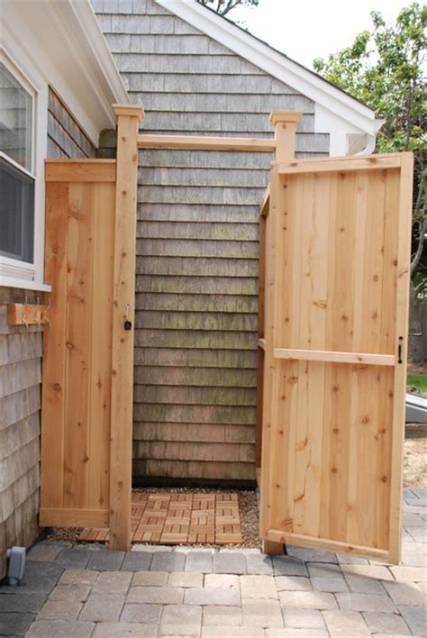 outdoor cedar shower cedar outdoor shower boston by cape cod shower kits co