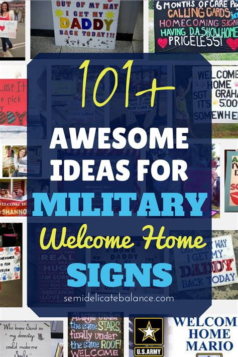 welcome home signs ideas