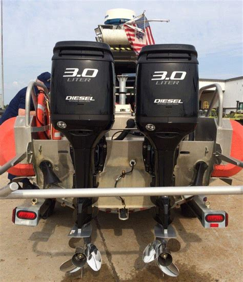 boat engine price coast guard tries out diesel outboards