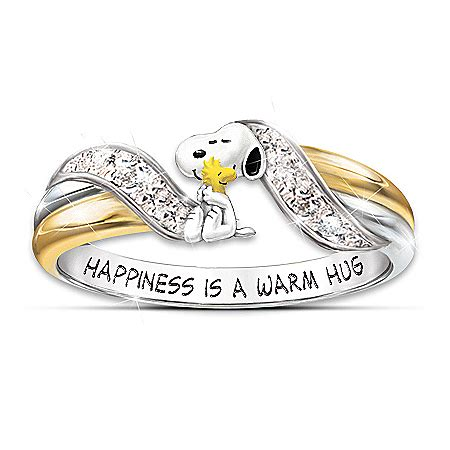 happiness is peanuts snoopy and woodstock embrace womens