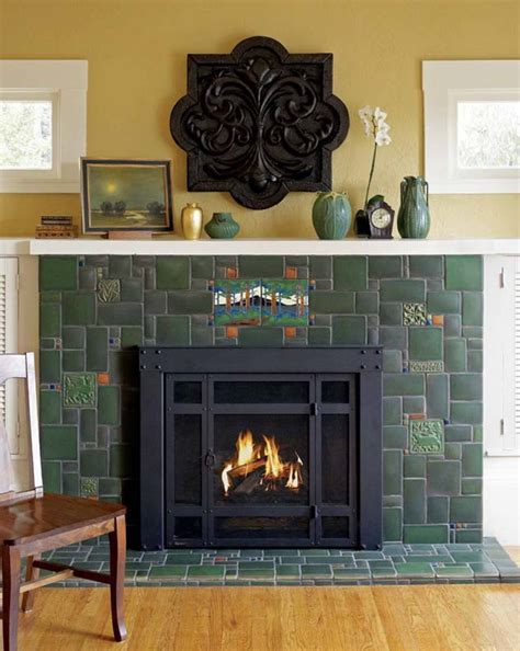 Decorative Tile For Fireplace by Fireplace Ideas For Bungalows House Restoration