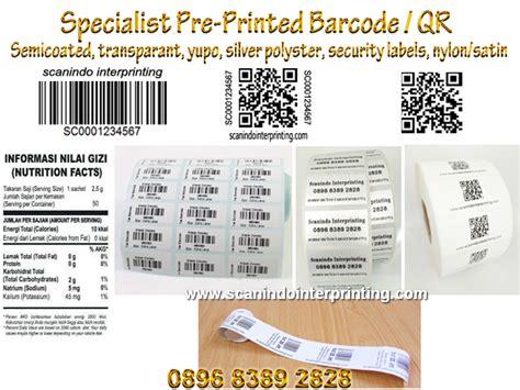 Cetak Foto Stiker Custom Label jasa cetak barcode label sticker pre printed barcode l