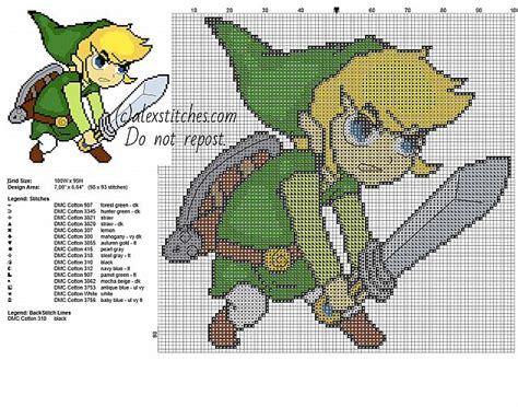 zelda link pattern link children with a sword character form the legend of