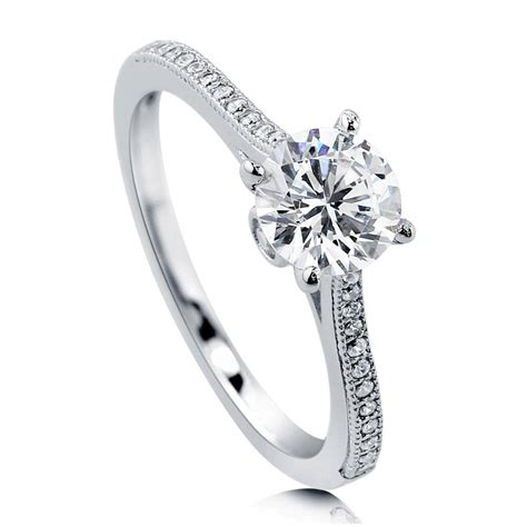 berricle sterling silver 1 18 carat cz solitaire