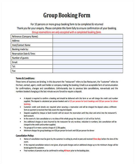 reservation forms in pdf reservation forms in pdf templates