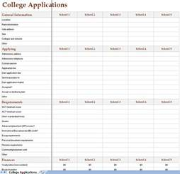 college application template college search excel worksheet christian college search