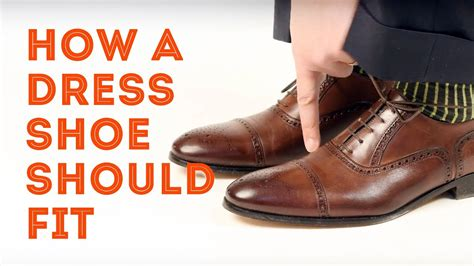 how a mens dress shoe should fit how to find the right
