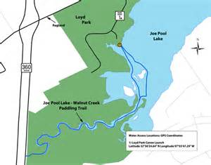 tpwd joe pool lake and walnut creek paddling trails