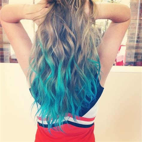 dip dye hairstyles brown and blonde hair trends 2015 10 hottest blue dip dye hair colors for