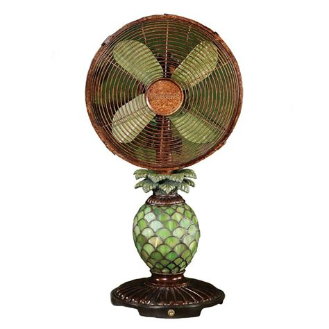home depot desk fan deco breeze 10 in mosaic glass pineapple fan