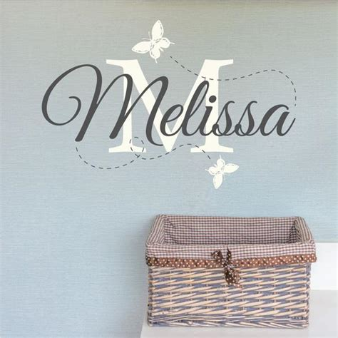 name wall stickers uk personalised nursery name wall sticker wallboss wall