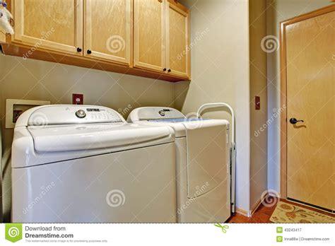 simple bathroom interior with white appliances stock photo