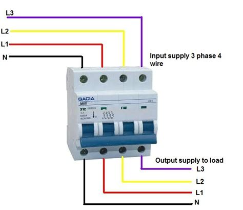 mccb wiring diagram mccb circuit diagram
