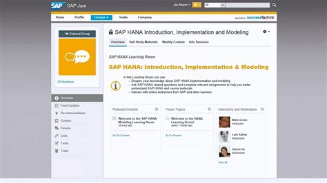 sap jam tutorial how sap use successfactors learning and sap jam for its