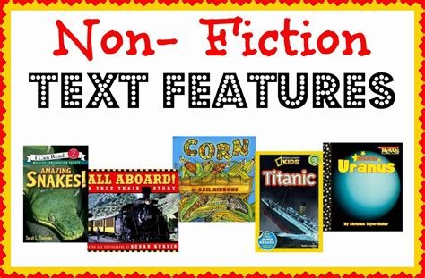 prose the of nonfiction books non fiction text features study plus a few freebies
