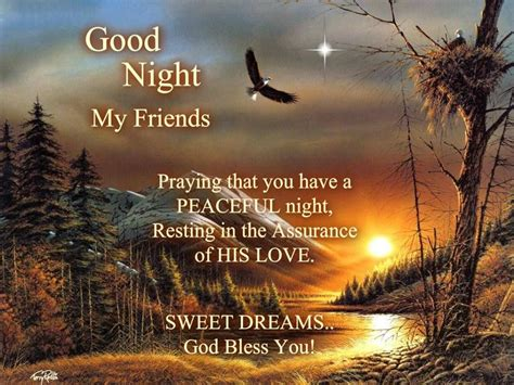 good night god bless inspirational messages good