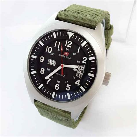 Swiss Army 1128 Kulit Original jam tangan swiss navy original canvas