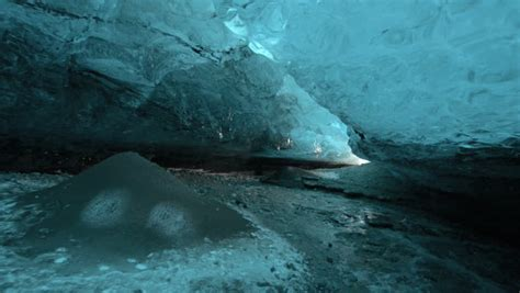 Water Inlet Xenia 1000cc an cave cave in skaftafell iceland stock
