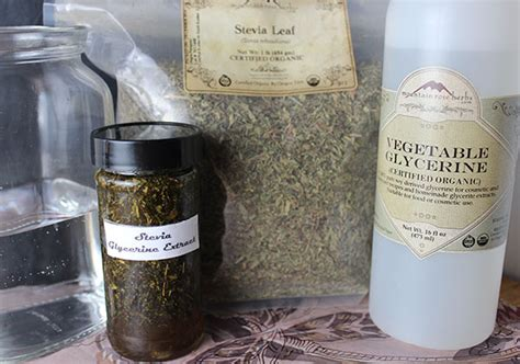 Shelf Of Glycerin by How To Make Stevia Extract Using Different Methods