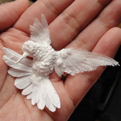 How To Make A Hummingbird Out Of Paper - paper hummingbird