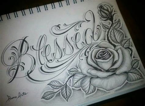tattoo lettering sketch beautiful rose tatts i would like pinterest rose