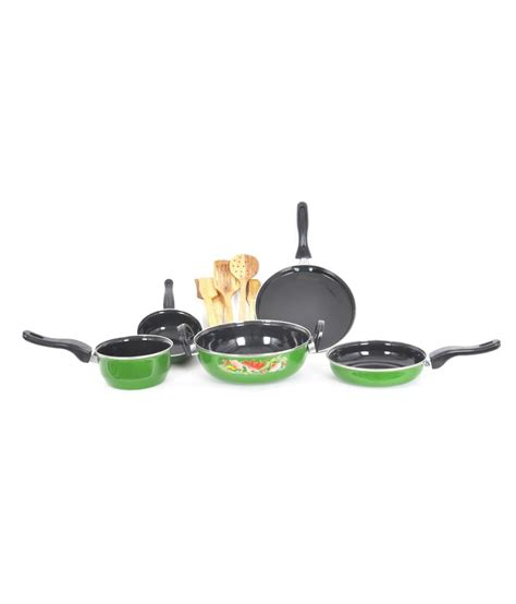 induction cooking set milton green induction cookware set of 10 buy at best price in india snapdeal