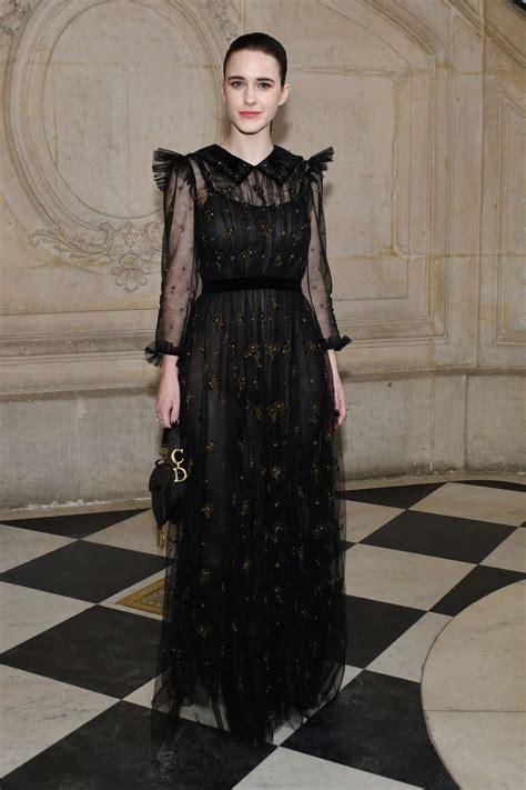 rachel brosnahan  christian dior show  paris fashion