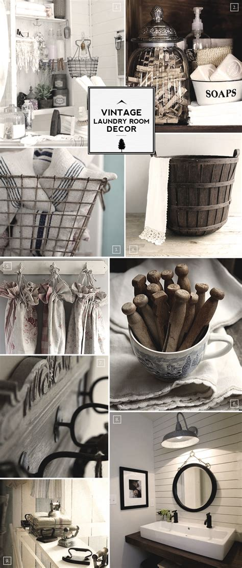 Vintage Room Decor Style Guide Vintage Laundry Room Decor Ideas Home Tree Atlas