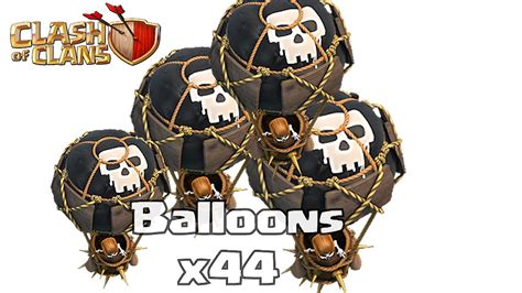 Balon Max Coc clash of clans balloons max gameplay attack with level