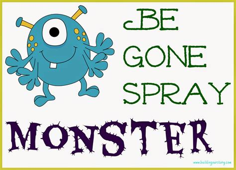 printable label for monster spray monster be gone spray for spooky toddlers diy building