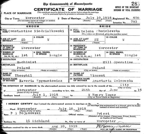 Ct Marriage Records Pennsylvania Birth Certificate Record Marriage